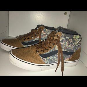 Floral Old Skool Hightop Vans Shoes